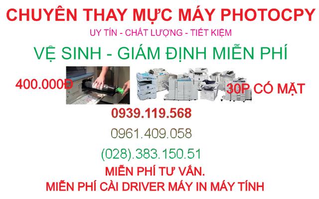 nạp mực máy photocopy tận nơi quận Bình Thạnh